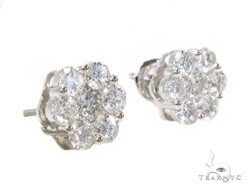 Platinum Diamond Earrings Stone