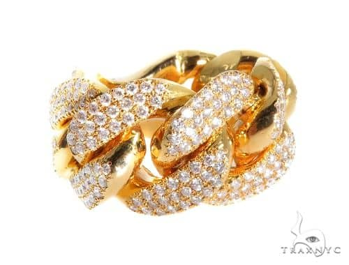 Diamond Miami Cuban Link Ring 64128 Stone