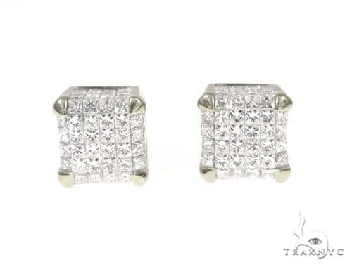 Invisible Diamond Cube Earrings 64129 Stone