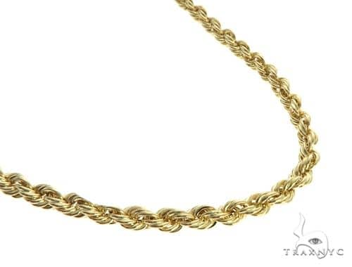 14K Yellow Gold Solid Rope Chain 22 Inches 3mm 14.4 Grams 64131 Gold