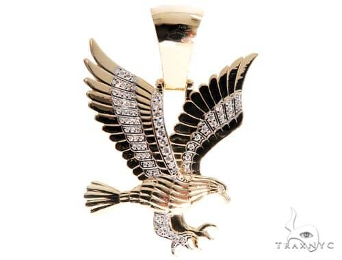 Prong Diamond Wild Eagle Pendant 64139 Metal