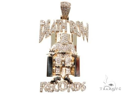 Custom Pave Diamond Death Row Records Charm Pendant 64147 Diamond