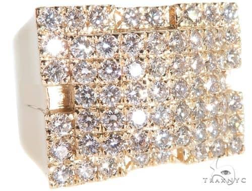 Russian Cut Diamond Band Stone