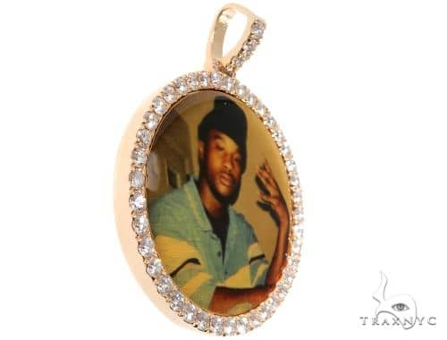 14K Gold Custom Photo Pendant 1.75 Inch 64180 Metal