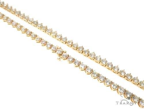 Three Prongs Diamond Chain 22 Inches 5mm 55.8 Grams Diamond