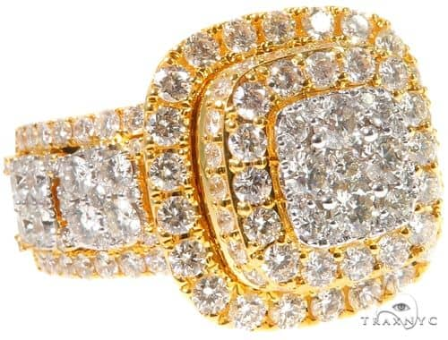 Square Cluster Diamond Ring 64196 Stone