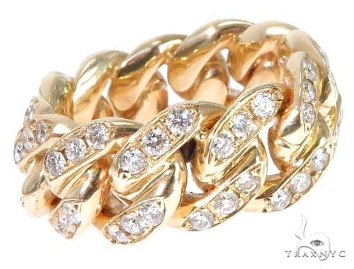 Diamond Miami Cuban Link Ring 64199 Stone