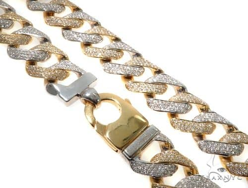 Mens Large Diamond Cuban Link Chain 30 Inches 20mm 363.3 Grams 64203 Diamond