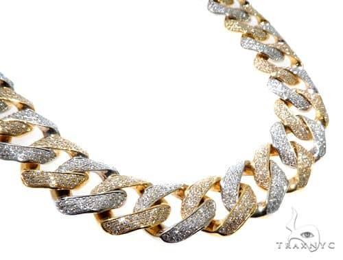 Mens Large Diamond Cuban Link Chain 30 Inches 20mm 363.3 Grams 64203 Diamond