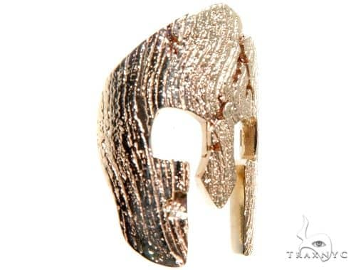 Spartan Mask Diamond Pendant Metal