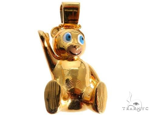 Custom Made Solid Gold Teddy Bear Pendant Metal