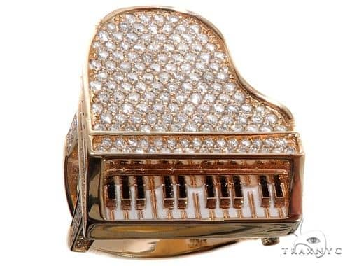 Flower Diamond Custom Piano Ring Stone
