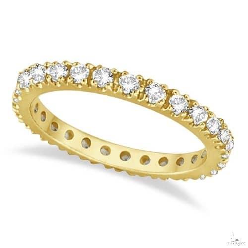 Diamond Eternity Stackable Ring Wedding Band 14K Yellow Gold Anniversary/Fashion