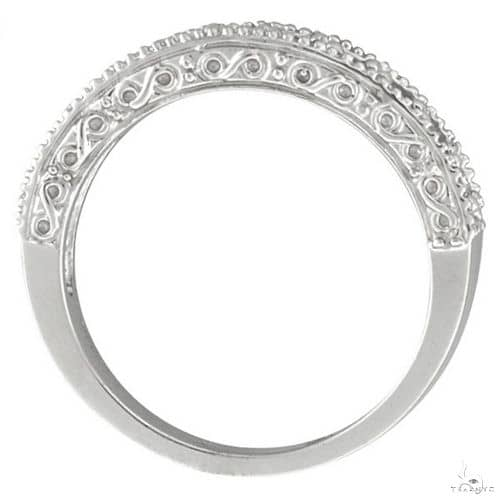 Diamond and Ruby Ring Anniversary Band 14k White Gold Anniversary/Fashion