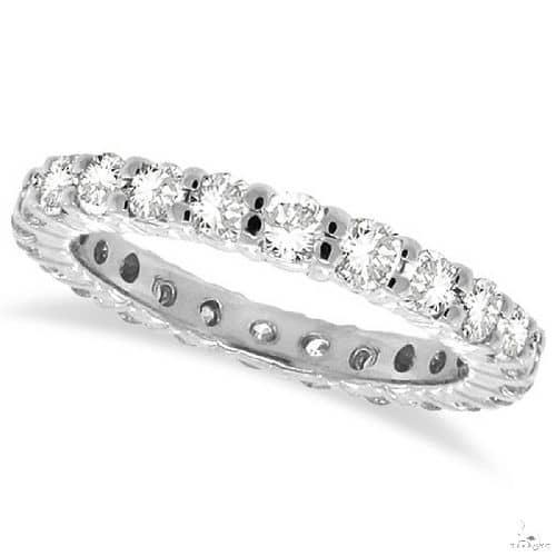 Diamond Eternity Ring Wedding Band 14k White Gold Anniversary/Fashion