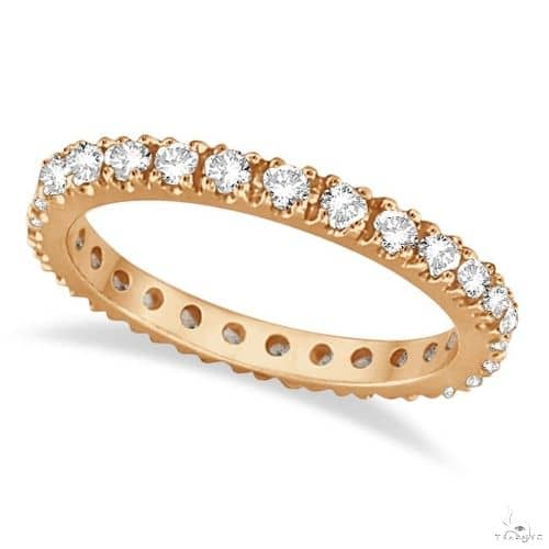 Diamond Eternity Stackable Ring Wedding Band 14K Rose Gold Anniversary/Fashion