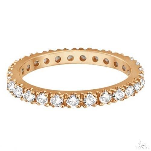 Diamond Eternity Stackable Ring Wedding Band 14K Rose Gold Anniversary/Fashion