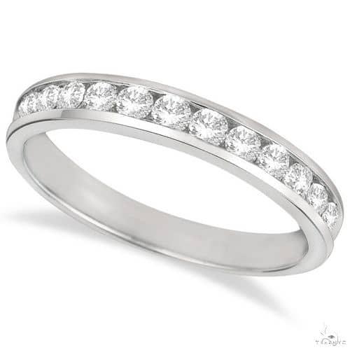 Channel-Set Diamond Anniversary Ring Band 14k White Gold Anniversary/Fashion