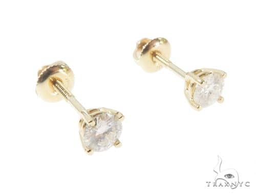 Solitaire Prong Diamond Studs 64377 Stone