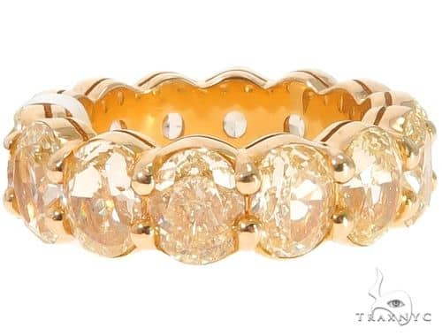18K Yellow Gold Prong Diamond Eternity Ring 64388 Engagement
