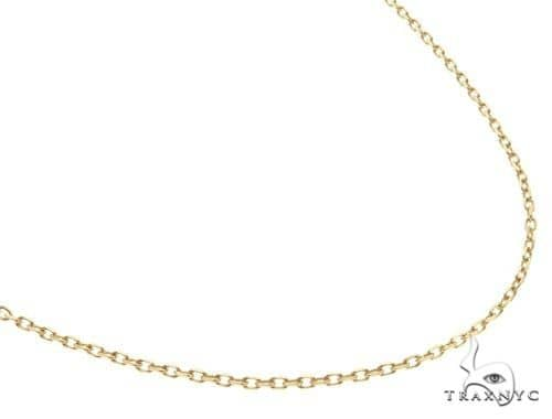 14K Yellow Gold Cable Link Chain 18 Inches 1.4mm 2.6 Grams 64395 Gold