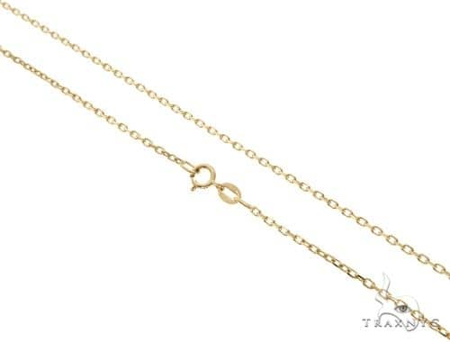 a0c0cf2d55330 14K Yellow Gold Cable Link Chain 24 Inches 1.4mm 3.4 Grams 64398
