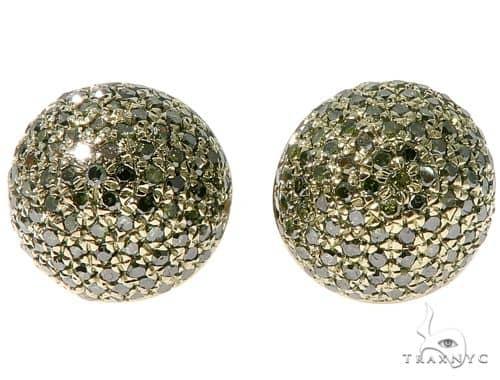 Green Berry Micro Pave Diamond Stud Earrings Stone
