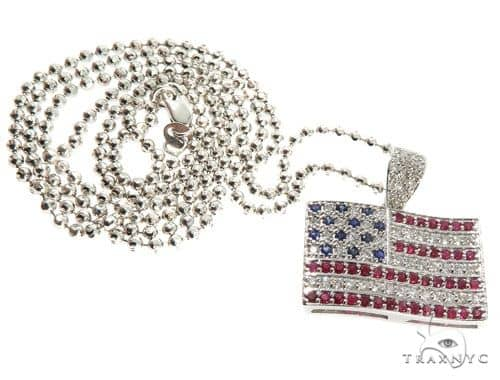 American Flag Moon Cut Chain Set Metal