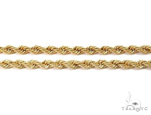 10k Yellow Gold Hollow Rope Chain 22 inches 2.1mm  2.5 Grams 64438 Gold