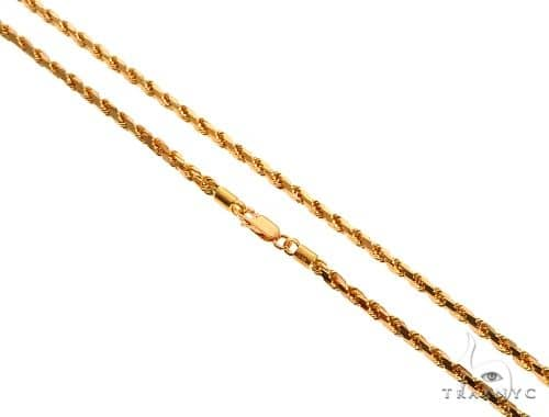 22k Yellow Gold Hollow Rope 24 Inches 4mm 11.3 Grams 64448 Gold