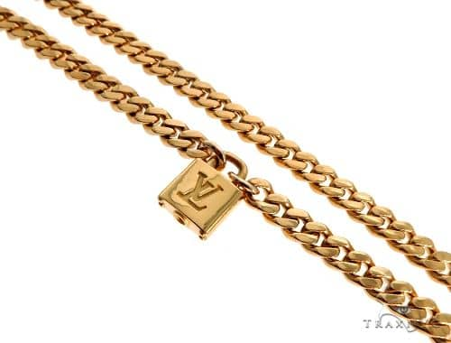 Solid Miami Link Chain With Custom Lock Gold