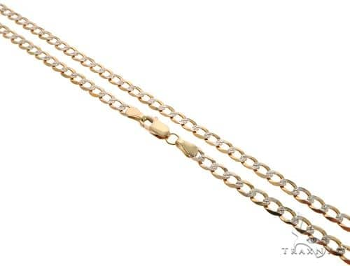10K Yellow Gold Diamond Cut Cuban Curb Link Chain 24 Inches 4.3mm 8.5 Grams Gold