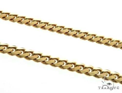 Solid Miami Cuban Link Chain 10K Yellow Gold 30 Inches 7mm 96.4 Grams 64517 Gold