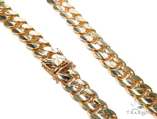 Miami Cuban Gold Chain 22.75 Inches 10mm 190.70 Grams Gold