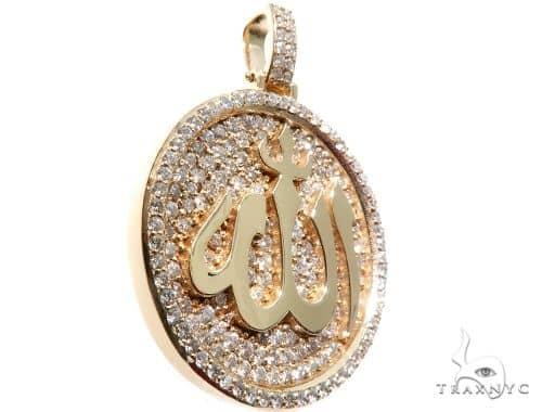 Custom Diamond Allah Islam Pendant Metal