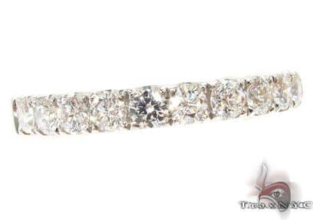 Platinum Diamond Half Eternity Band 64549 Wedding