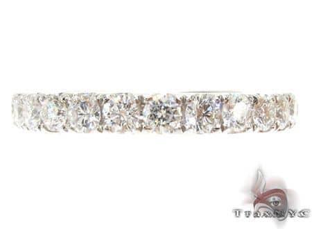 Platinum Diamond Half Eternity Band 64549 Wedding