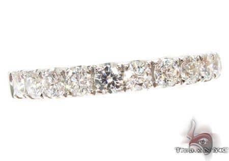 Platinum Diamond Half Eternity Band 64550 Wedding