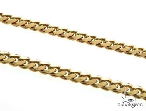 14K YG Miami Cuban Link Chain 64556 Gold