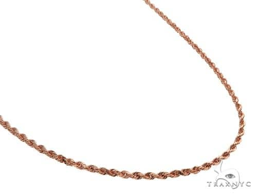 Solid 14K Rose Gold Rope Linki Chain 26 Inches 3mm 19.0 Grams 64596 Gold