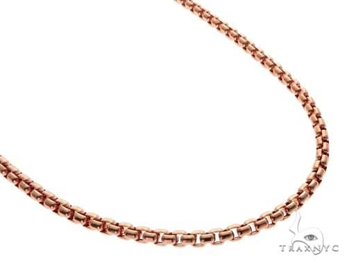 14K Rose Gold Round Box Link Chain 24 Inches 5mm 29.0 Grams 64617 Gold
