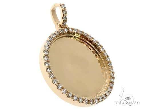 14K Gold Customizable Photo Pendant 1 inch  64624 Stone