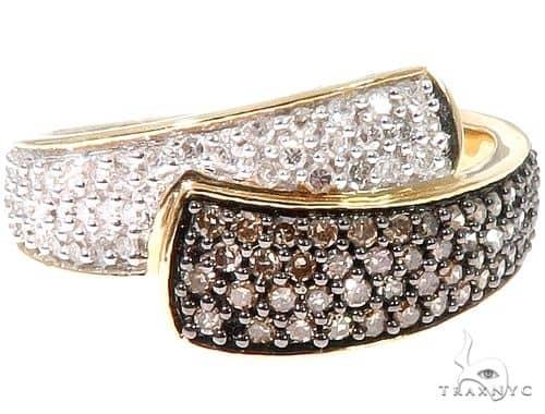 14k Yellow Gold White and Chocolate Diamond Ring 64632 Anniversary/Fashion