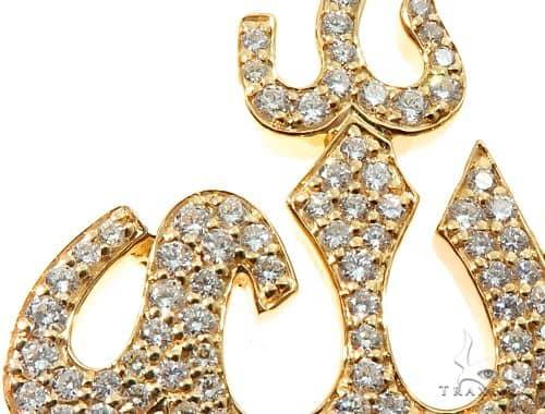 Allah Diamond Pendant Metal