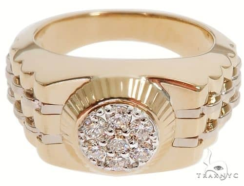 14K Yellow Gold Men\'s Diamond Ring 64641 Stone
