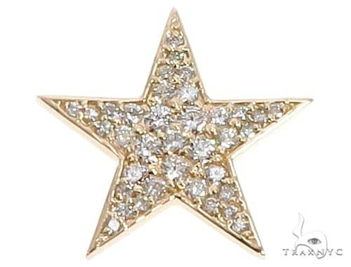 14k Yellow Gold Diamond Star Pendant 64650 Stone