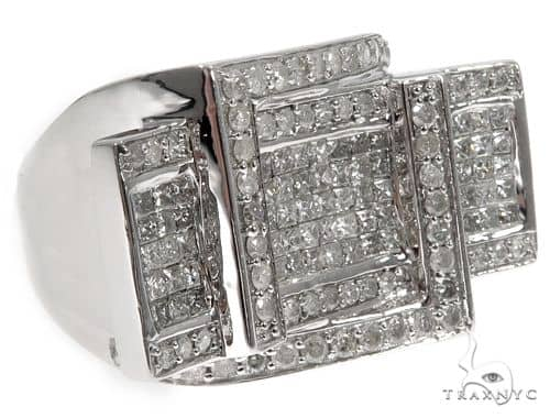 Princess Round Cut Invisible Diamond Ring 64660 Stone