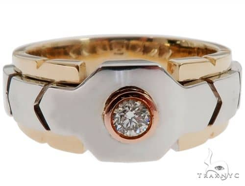 14k Three Tone Gold Diamond Ring 64662 Stone