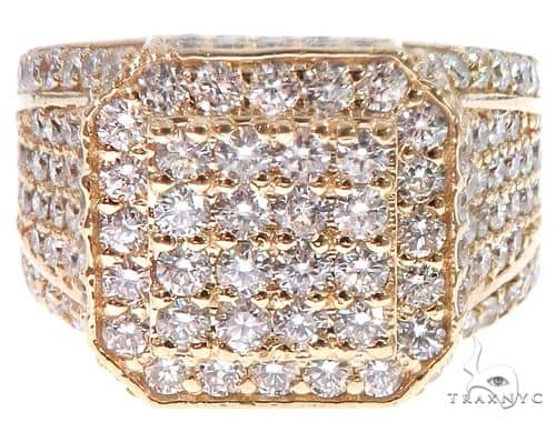 14k Yellow Gold Men's Diamond Ring 64665 Metal