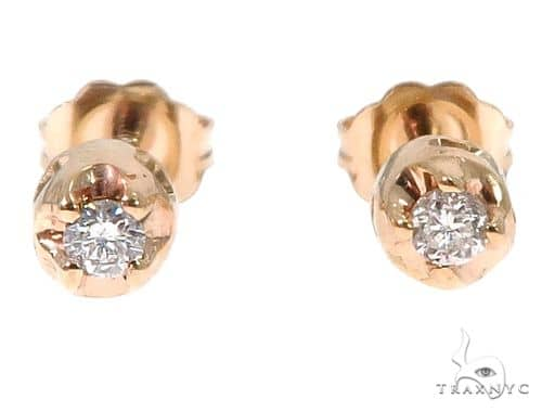 14k Yellow Gold Diamond Stud Earrings 64674 Style